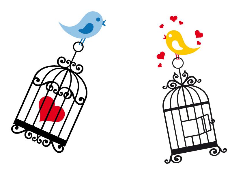 free vector Birdcage theme vector