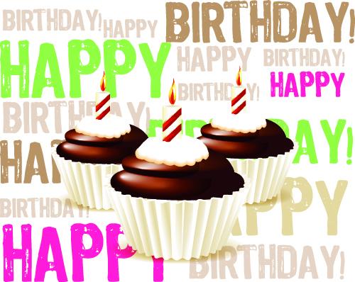 free vector Birthday cake 02 vector