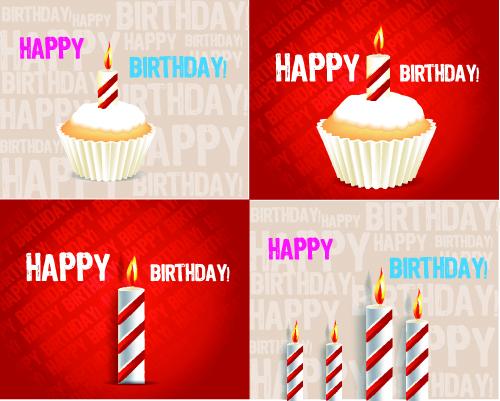 free vector Birthday cake 04 vector
