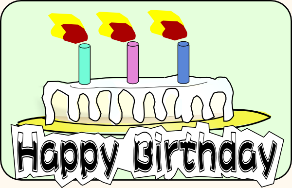 October Birthday Clipart Birthday cake clip art is free