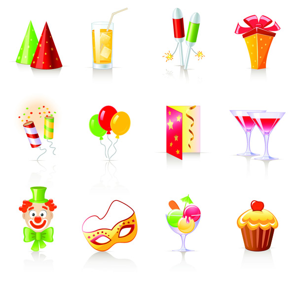 free vector Birthday theme icon vector