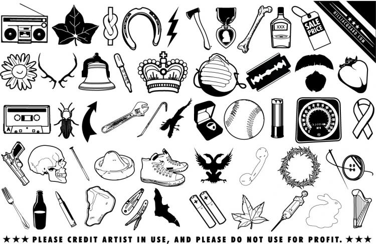 free vector Black and white clip art daily