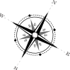 free vector Black And White Compass clip art