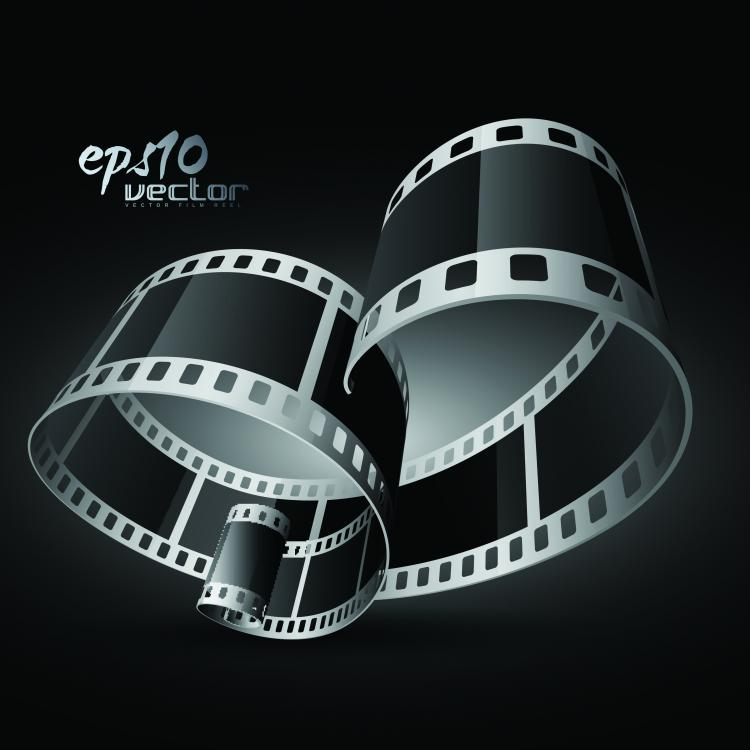 free vector Black and white film clip art 3d 1