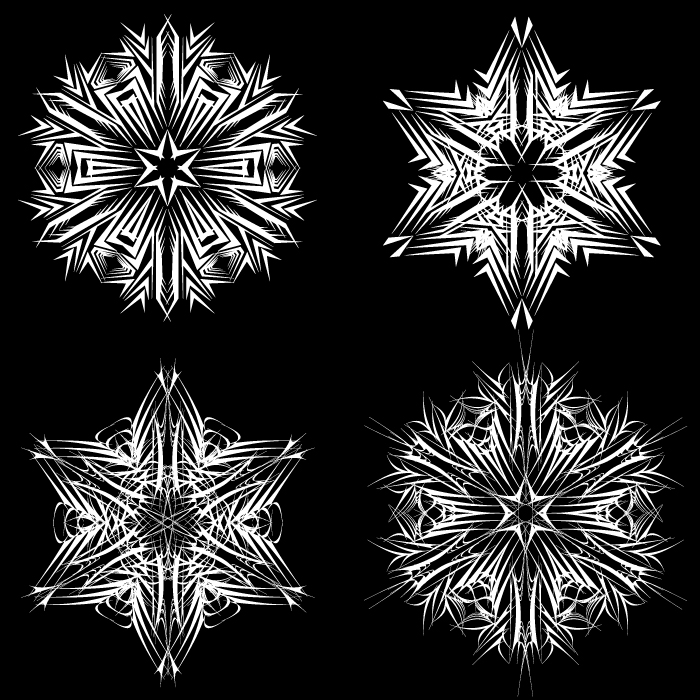 free vector Black and white pattern 01 vector