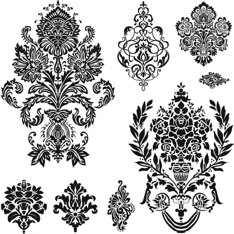 Cool black and white patterns vector - photo#2