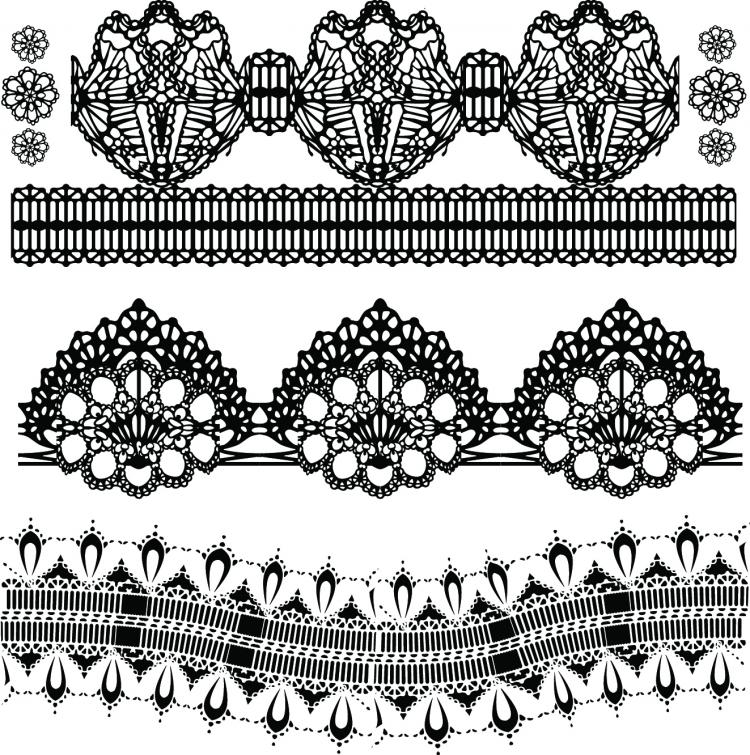 free vector Black and white patterns 01 vector