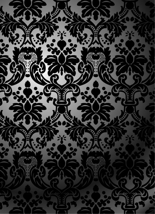free vector Black and white twoparty continuous pattern vector