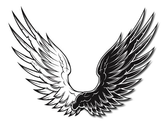 free vector Black and white vector wings black and white vector wings