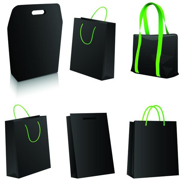 free vector Black bag vector
