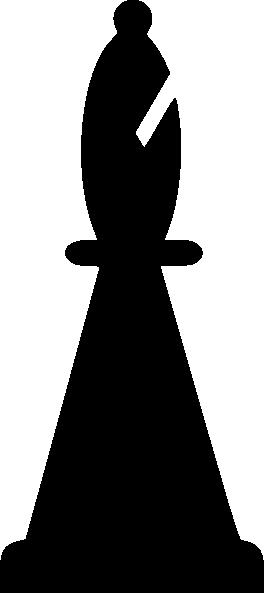 free vector Black Bishop Chess Piece clip art