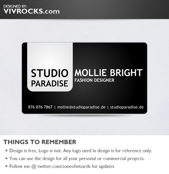 free vector Black Bold Glossy Vector Business Card