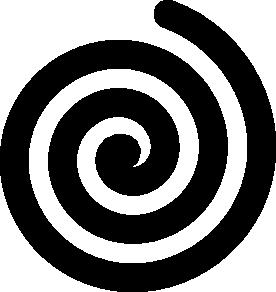 free vector Black Bold Spiral clip art