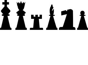 free vector Black Chess Pieces Set clip art