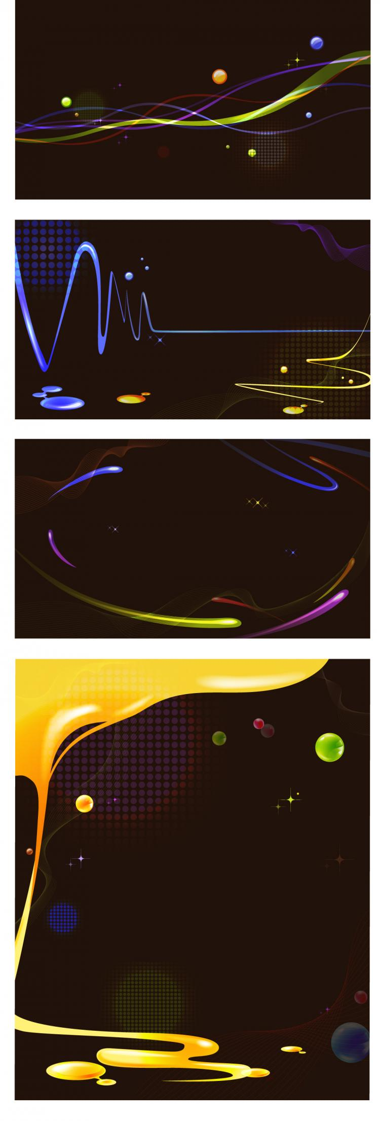 free vector Black cool background vector