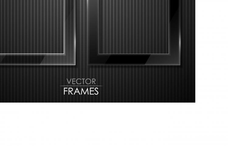 free vector Black cool border 04 vector