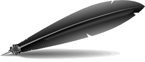 free vector Black Feather clip art