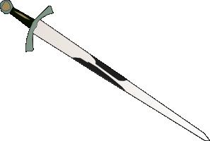 free vector Black Grey Sword clip art