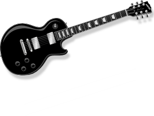 black guitar clip art free vector 4vector rh 4vector com acoustic guitar clipart black and white acoustic guitar clipart black and white