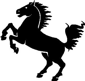 free vector Black Horse clip art
