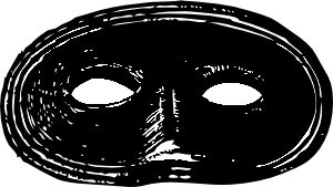 Black Mask clip art Free Vector / 4Vector