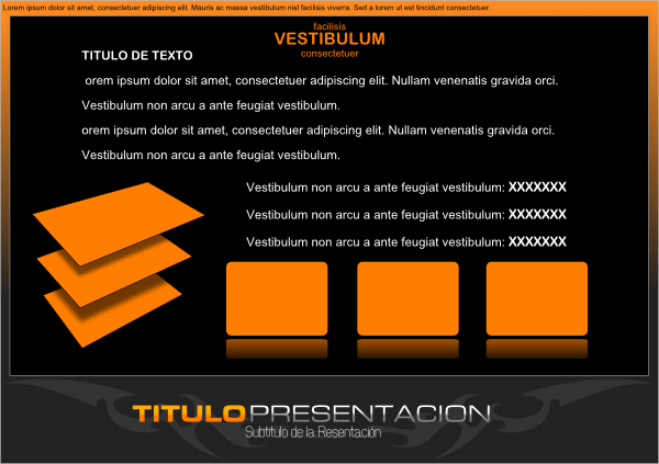 free vector Black Presentation Template clip art