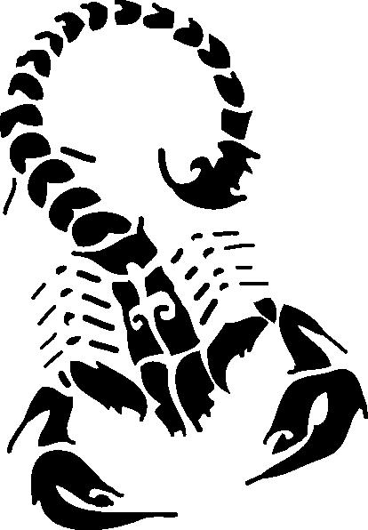 free vector Black Scorpion clip art