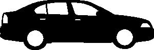 free vector Black Sedan Car clip art