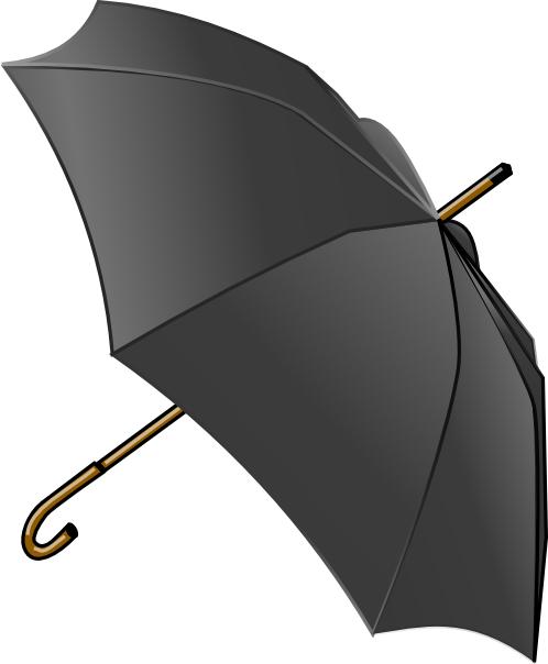 free vector Black Umbrella clip art
