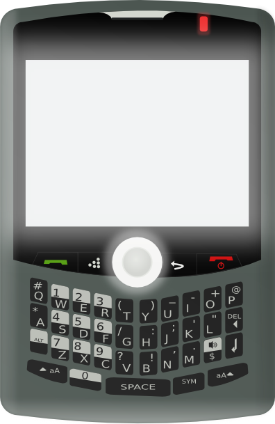 free vector Blackberry Curve clip art