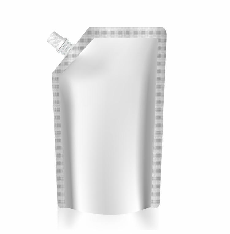 free vector Blank bag foil spout pouch