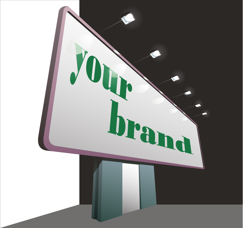 free vector Blank billboard vector