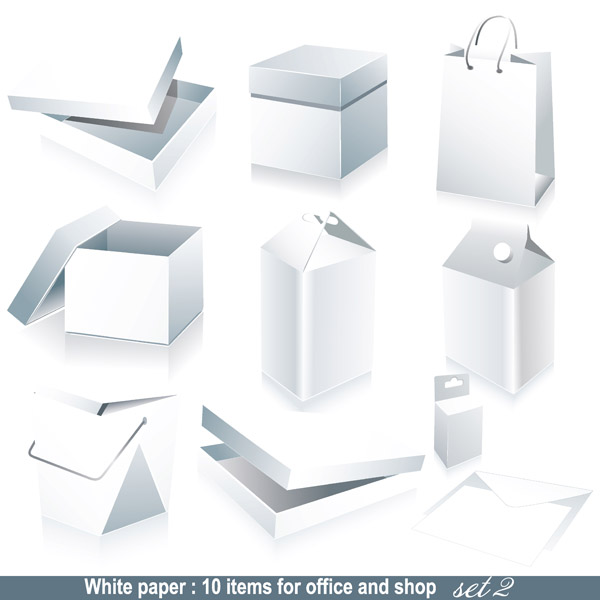 free vector Blank box packaging vector
