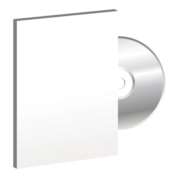 free vector Blank cd dvd packaging vector