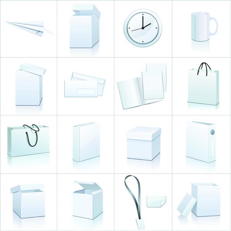 free vector Blank goods icon vector