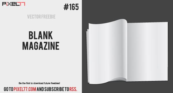 free vector Blank Magazine