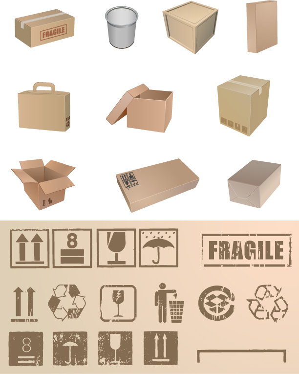 free vector Blank packaging vector