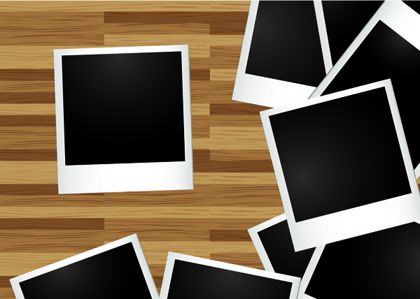 free vector Blank photo paper vector