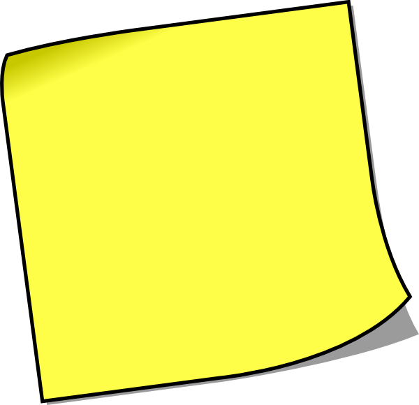 free vector Blank Sticky Note clip art
