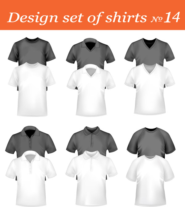 free vector Blank vector clothing