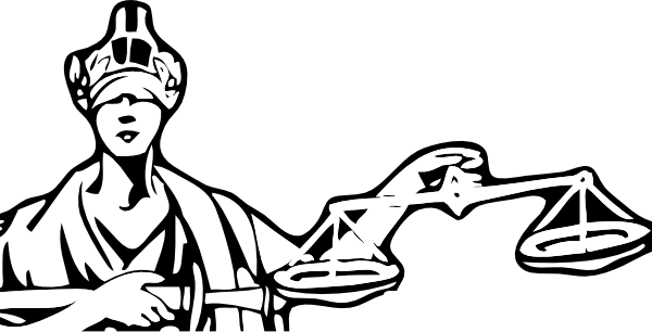 free vector Blind Justice clip art