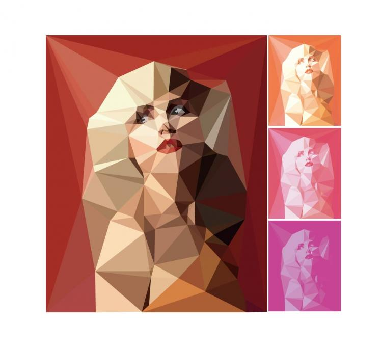 free vector Blocks of color figures vector