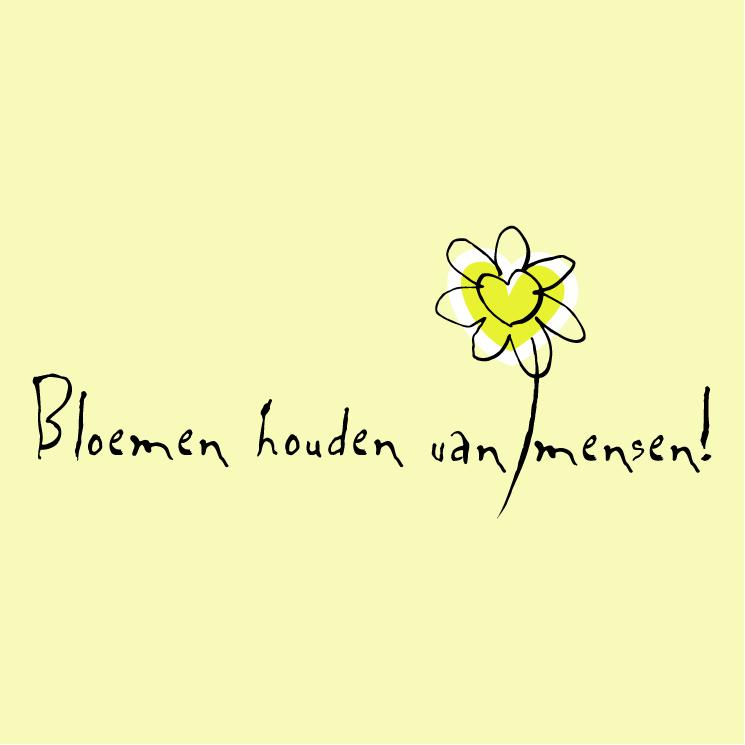 free vector Bloemen houden van mensen