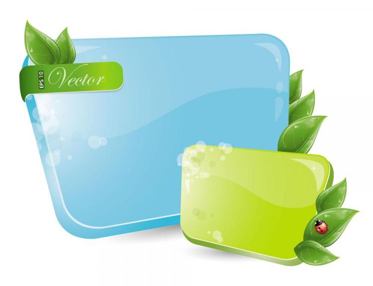 free vector Blue and green dialog box 01 vector