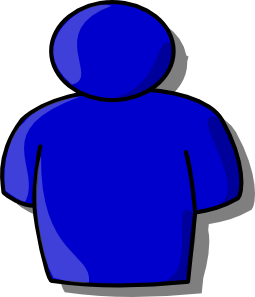 free vector Blue Avatar clip art