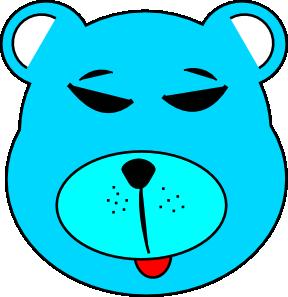 free vector Blue Bear clip art