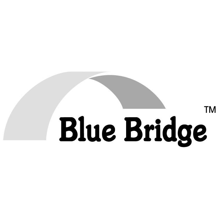 free vector Blue bridge