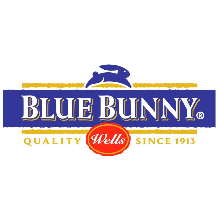 free vector Blue bunny 0