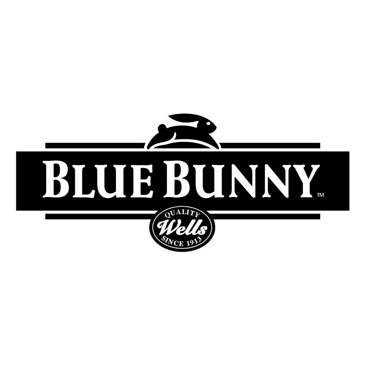 free vector Blue bunny 1