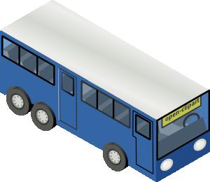 free vector Blue Bus clip art